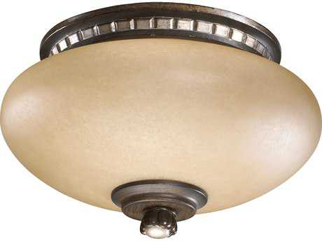 Quorum International Ashfield Walnut with Antique Flemish Two-Lights Fan Light Kit QM22889124