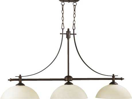 Quorum International Aspen Oiled Bronze Three-Lights Island Light QM6577386