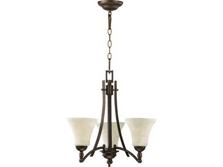 Quorum International Aspen Oiled Bronze Three-Light 20'' Wide s Mini Chandelier QM6177386
