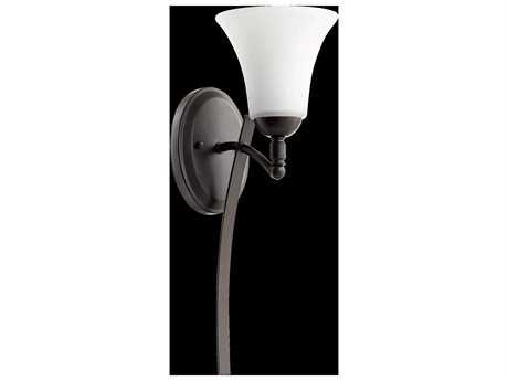 Quorum International Aspen Oiled Bronze With Satin Opal Wall Sconce QM54771186