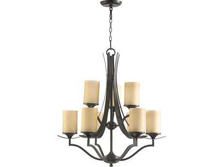Quorum International Atwood Oiled Bronze Nine-Light 29'' Wide Chandelier