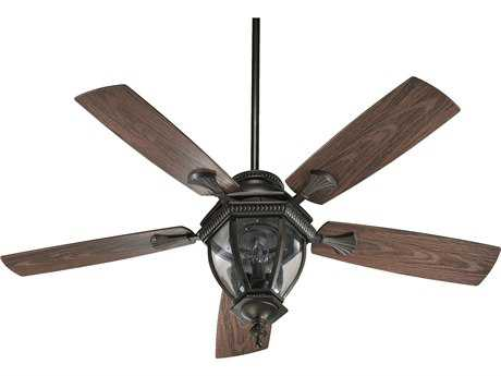 Quorum International Oiled Bronze 52 Inch Outdoor Ceiling Fan with Light QM14552586