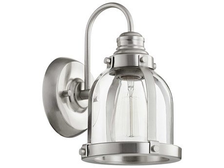 Quorum International Banded Dome Satin Nickel 7'' Wide Vanity Light QM586165
