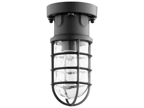 Quorum International Belfour Noir with Clear Glass 4.88'' Wide Outdoor Flush Mount Light QM30169