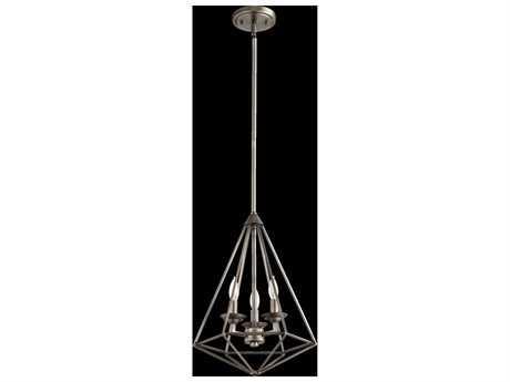 Quorum International Bennett Antique Silver Three-Light 13'' Pendant Light QM8311392