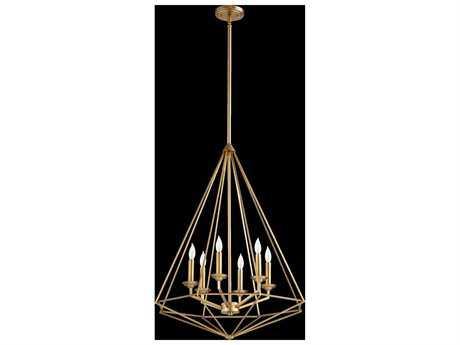 Quorum International Bennett Aged Brass Six-Light Pendant Light QM8311680