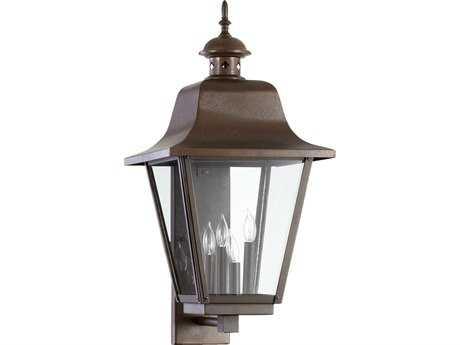 Quorum International Bishop Oiled Bronze Four-Lights Outdoor Wall Lantern QM7030486