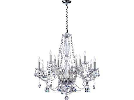 Quorum International Bohemian Katerina Chrome 12-Light 26'' Wide Chandelier QM63012514