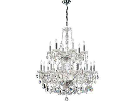Quorum International Bohemian Katerina Chrome 18-Light 32'' Wide Chandelier QM63118514