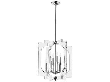 Quorum International Broadway Polished Nickel Eight-Light 21'' Wide Mini-Chandelier QM605862