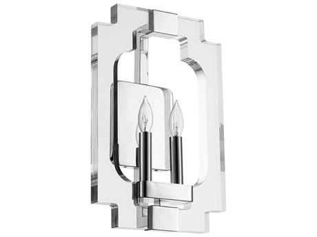 Quorum International Broadway Polished Nickel Two-Light 10.5'' Wide Wall Sconce QM555262