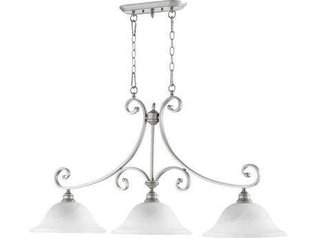 Quorum International Bryant Classic Nickel Three-Lights Island Light QM6654364
