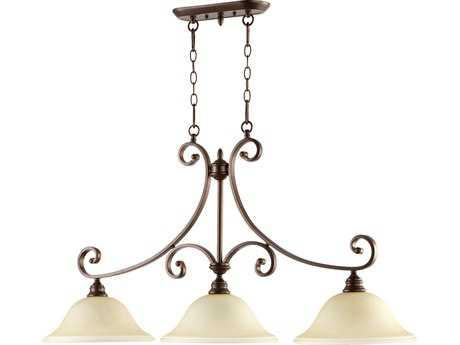Quorum International Bryant Oiled Bronze Three-Lights Island Light QM6654386