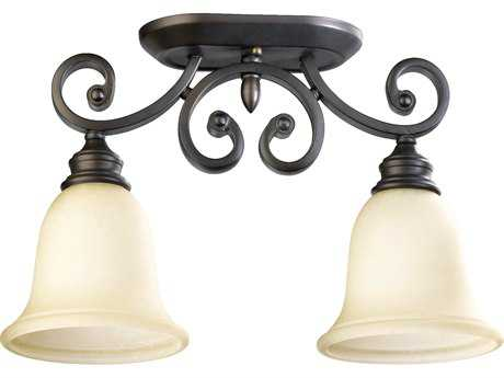 Quorum International Bryant Oiled Bronze Two-Lights Semi-Flush Mount Light QM3254286