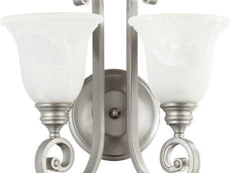 Quorum International Bryant Classic Nickel Two-Lights Wall Sconce QM5454264