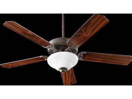 Quorum International Capri III Oiled Bronze Two-Light Indoor Ceiling Fan QM775259086