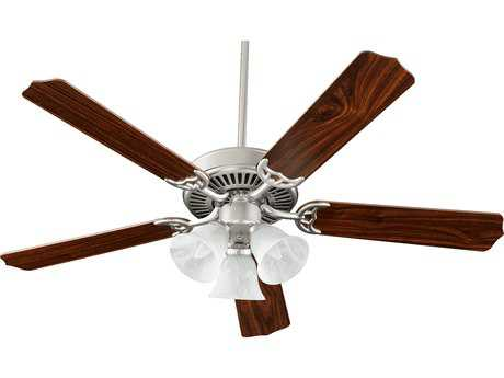 Quorum International Satin Nickel 52 Inch Indoor Ceiling Fan with Light QM775251665