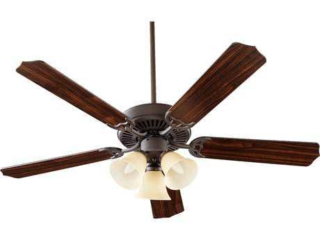 Quorum International Oiled Bronze 52 Inch Indoor Ceiling Fan with Light QM775251786