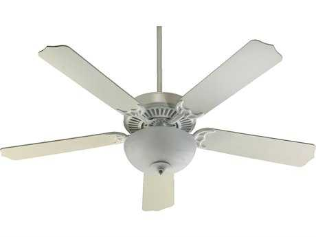 Quorum International Studio White 52 Inch Indoor Ceiling Fan with Light QM775259208