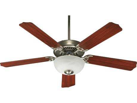 Quorum International Satin Nickel 52 Inch Indoor Ceiling Fan with Light QM775259265