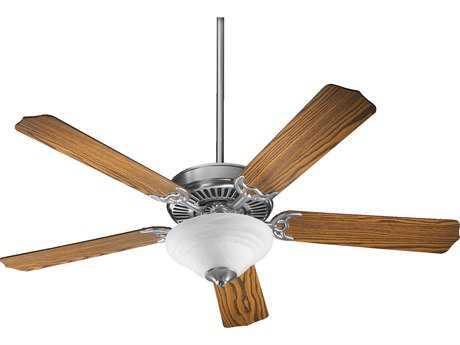 Quorum International Satin Nickel 52 Inch Indoor Ceiling Fan with Light QM775259565