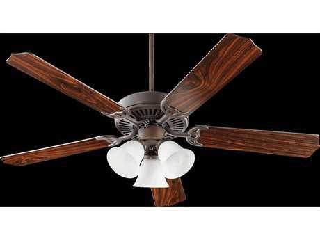 Quorum International Capri VI Oiled Bronze Three-Light Indoor Ceiling Fan QM775251086