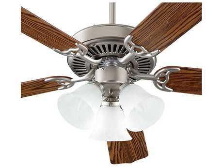 Quorum International Capri VI Satin Nickel Three-Light 52'' Wide Indoor Ceiling Fan QM7752516652