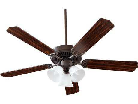 Quorum International Capri VI Oiled Bronze Three-Light 52'' Wide Indoor Ceiling Fan QM775251686