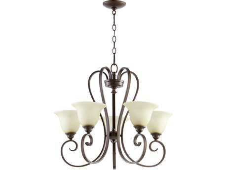 Quorum International Celesta Oiled Bronze Five-Light 26'' Wide Chandelier QM6053586