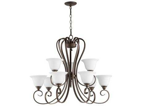 Quorum International Celesta Oiled Bronze Nine-Light 34'' Wide Chandelier QM60539186
