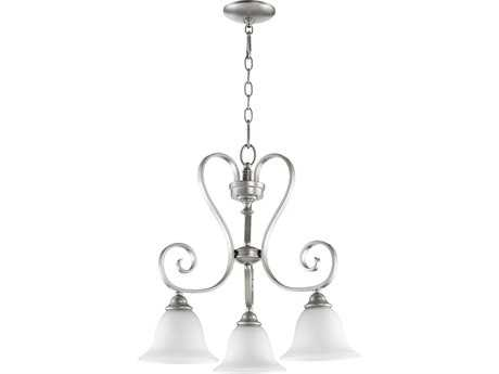 Quorum International Celesta Classic Nickel Three-Light 21'' Wide Chandelier QM6453364