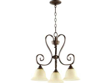 Quorum International Celesta Oiled Bronze Three-Light 21'' Wide Chandelier QM6453386