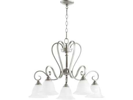 Quorum International Celesta Classic Nickel Five-Light 27'' Wide Chandelier QM6453564