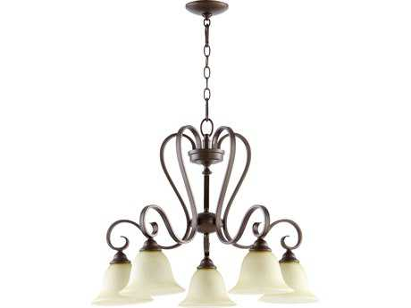 Quorum International Celesta Oiled Bronze Five-Light 27'' Wide Chandelier QM6453586