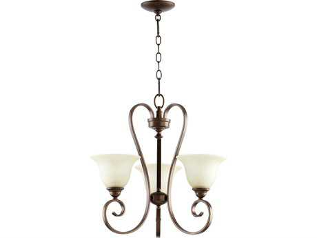 Quorum International Celesta Oiled Bronze Three-Light 21'' Wide s Mini Chandelier QM6053386