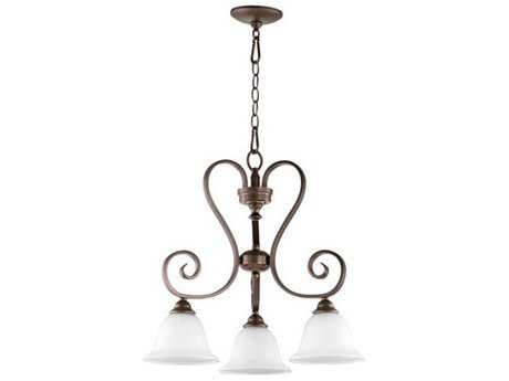 Quorum International Celesta Oiled Bronze Three-Light 21.25'' Wide Mini Chandelier QM64533186