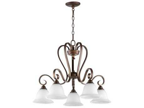 Quorum International Celesta Oiled Bronze Five-Light 27.5'' Wide Mini Chandelier QM64535186