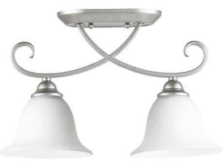 Quorum International Celesta Classic Nickel Two-Lights Semi-Flush Mount Light QM3253264