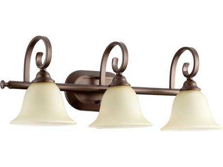 Quorum International Celesta Oiled Bronze Three-Lights Vanity Light QM5053386