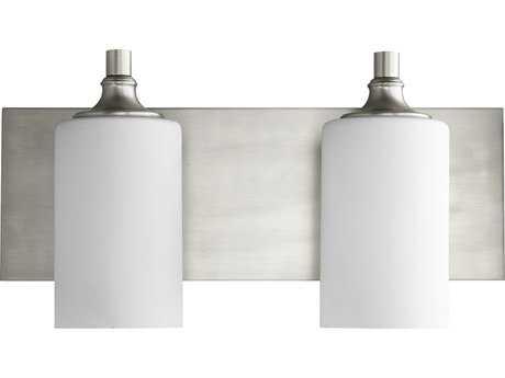 Quorum International Celeste Satin Nickel with White Two-Light Vanity Light QM5009265