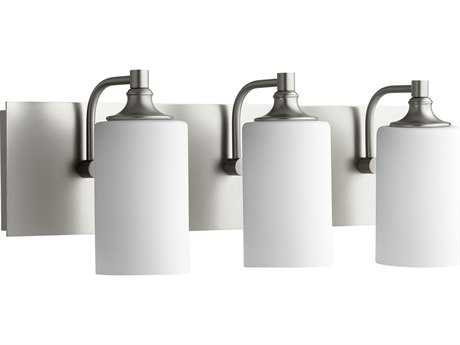 Quorum International Celeste Satin Nickel with Satin Opal Three-Light Vanity Light QM5009365