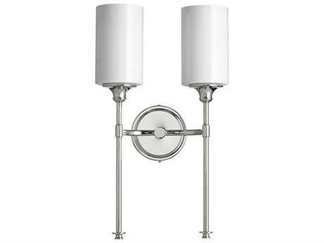 Quorum International Celeste Polished Nickel with White Two-Light Wall Sconce QM5309262