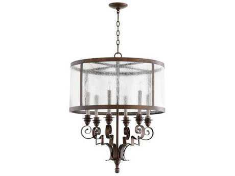 Quorum International Champlain Vintage Copper Six-Light 24'' Wide Chandelier QM6081639