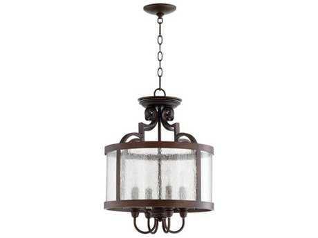 Quorum International Champlain Vintage Copper Four-Light 16'' Wide Pendant Light QM28811639