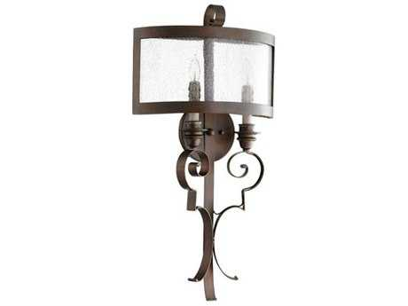 Quorum International Champlain Vintage Copper Two-Light Wall Sconce QM5481239
