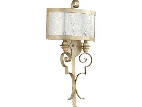 Quorum International Champlain Aged Silver Leaf Two-Lights Wall Sconce QM5481260