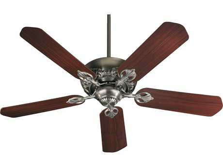Quorum International Antique Silver with Rosewood & Walnut 52 Inch Indoor Ceiling Fan QM7852592