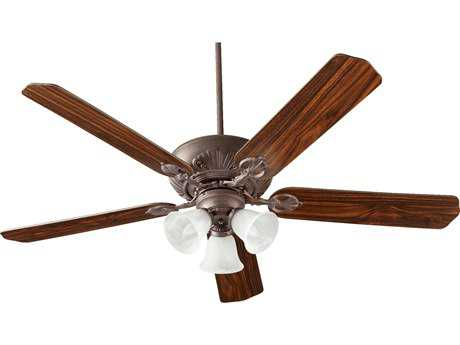 Quorum International Chateaux Uni-Pack Toasted Sienna with Faux Alabaster Glass Three-Light 60'' Wide Indoor Ceiling Fan QM786051644