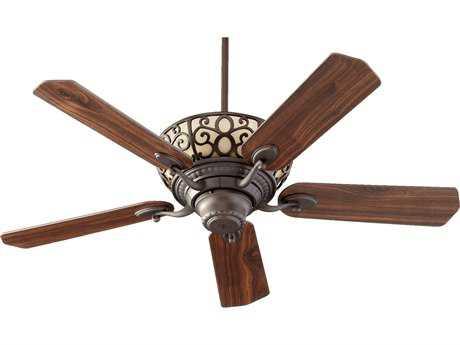 Quorum International Oiled Bronze 52 Inch Indoor Ceiling Fan with Light QM6952586