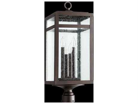 Quorum International Clermont Oiled Bronze Four-Light Outdoor Post Light QM775486